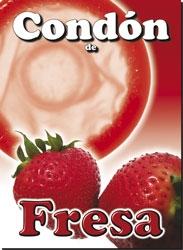2 Condones de Fresa