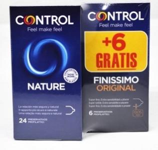 Preservativos Control Nature 24 + 6 Finissimo GRATIS